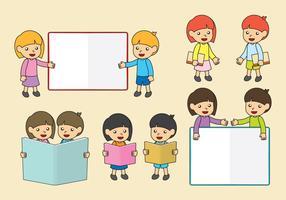 Bücher und Kinder Vektoren