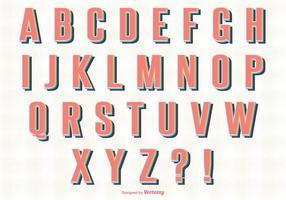 Retro Stil Alfabet Set vektor