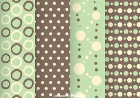 Grön och Grå Polka Dot Mönster vektor