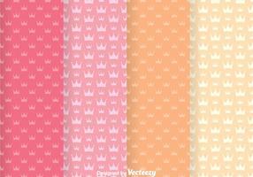 Süße Krone Girly Vektor Muster