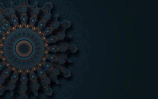 dunkler verzierter Mandala-Hintergrund vektor