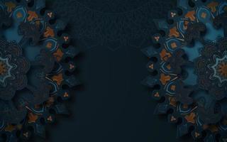 mörk mandala mönster dekorativ bakgrund