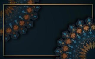 dekorative Hintergrund-Mandala-Eckdekoration