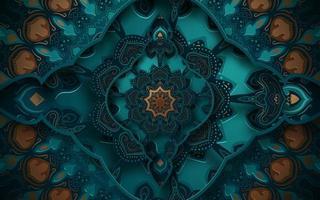 Dekorativer verzierter Hintergrund 3d vektor