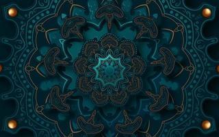 kompliziertes geschnittenes Papier 3d Mandala Design