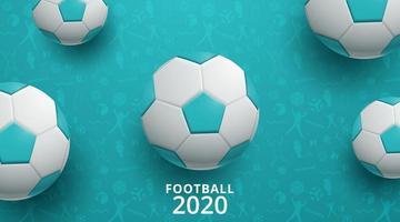 fotboll fotboll 2020 bakgrund vektor