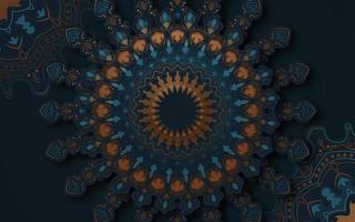 dekorativer verzierter Mandala-Hintergrund mit dekorativen Elementen