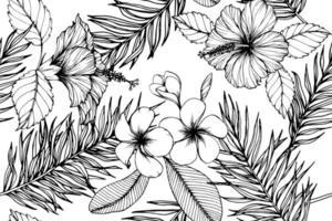 hawaiianska tropiska blommor vektor