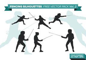 Fechten Silhouetten Free Vector Pack Vol. 2
