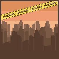 coronavirus utbrott city lockdown vektor