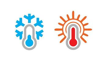 kalt heiß Temperatur Symbol vektor