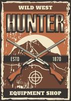 Schrotflinte Gun West West Poster vektor
