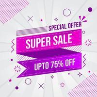 super försäljning banner