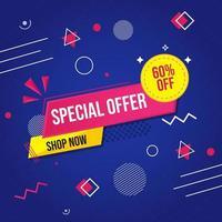 geometrisk försäljning banner vektor
