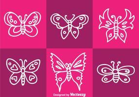 Weißer Schmetterling Vektor