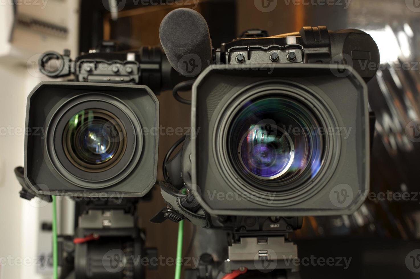 caméra vidéo numérique professionnelle. photo