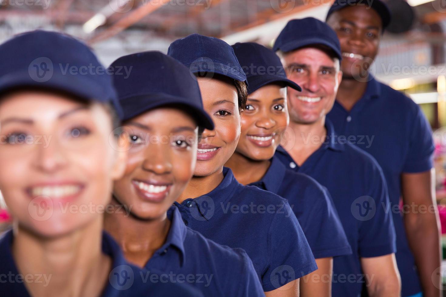 groupe d'équipe de travailleurs du textile photo