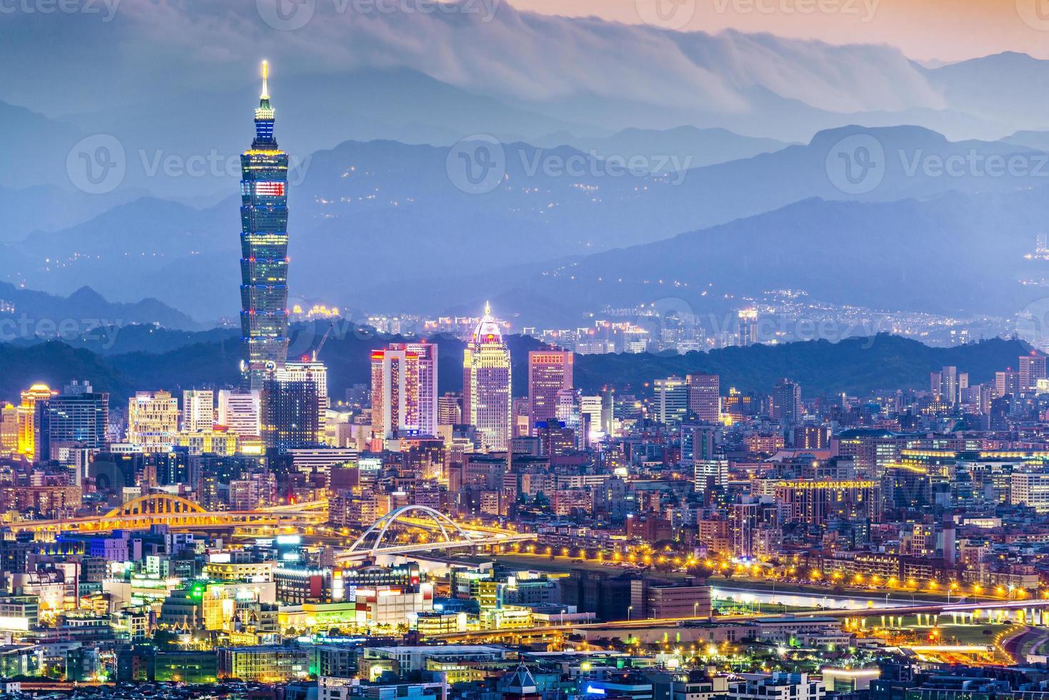 Skyline de Taipei photo