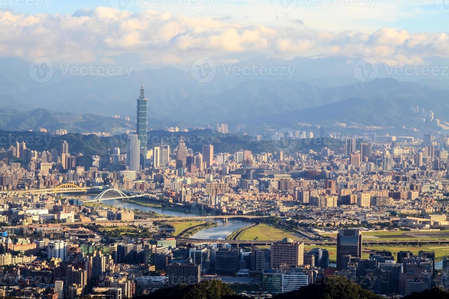 la vue de la ville de taipei, taiwan photo