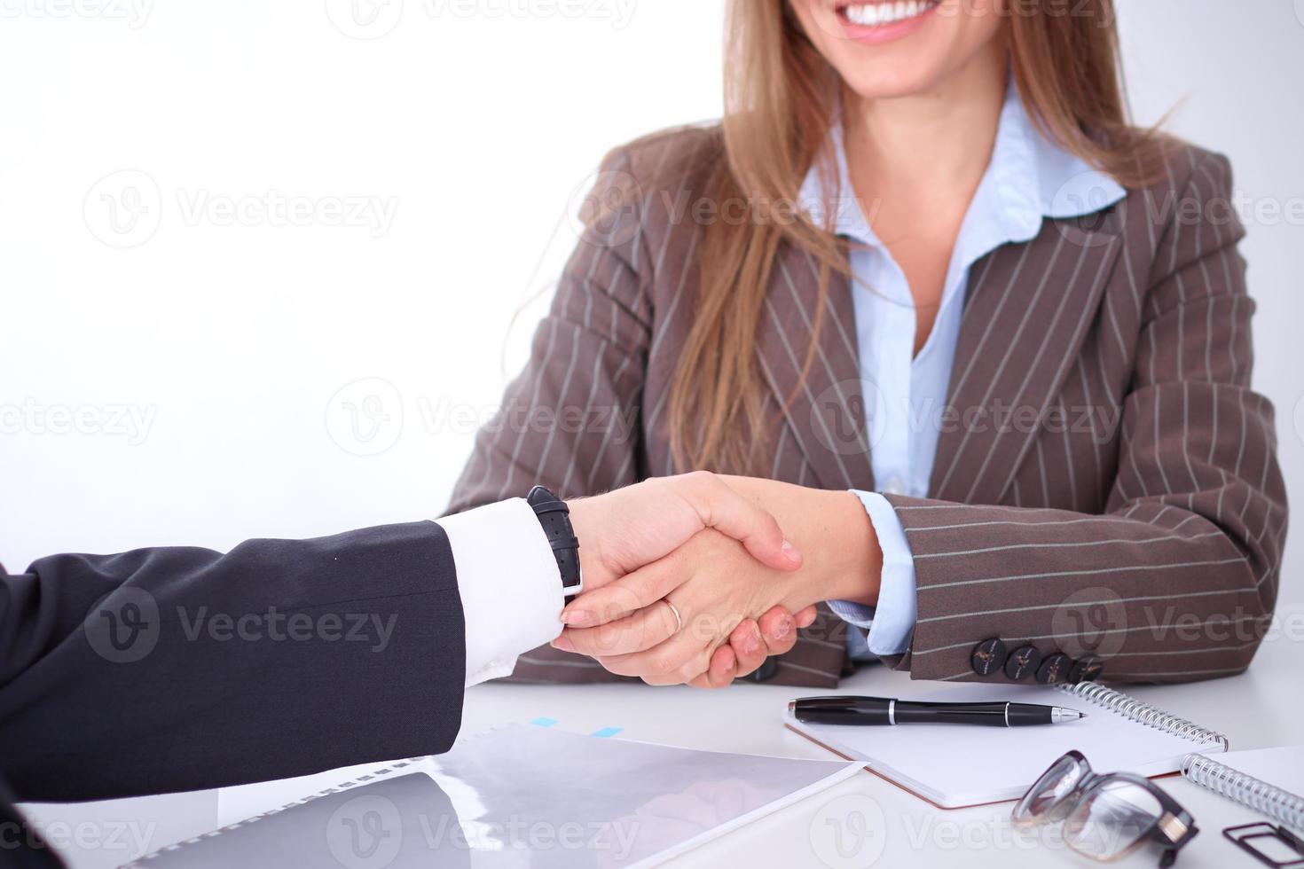 poignée de main d'affaires photo