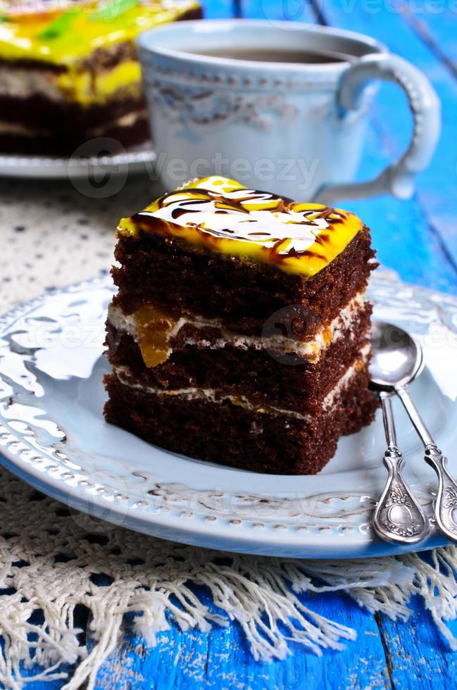 carré de gâteau photo
