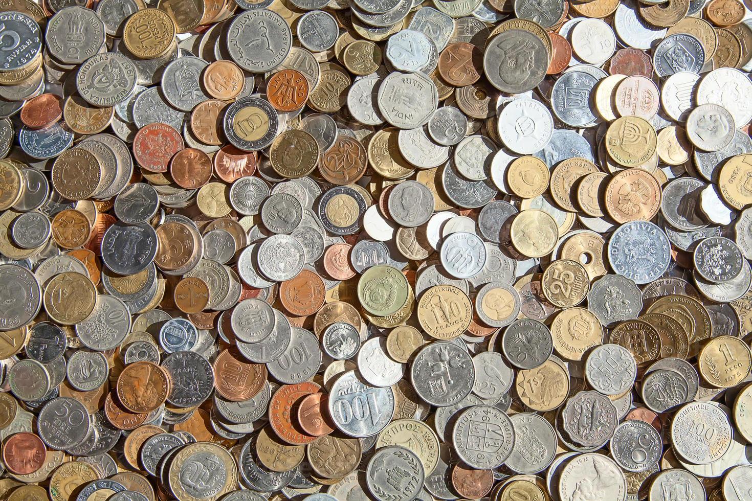 vieilles pièces de monnaie photo