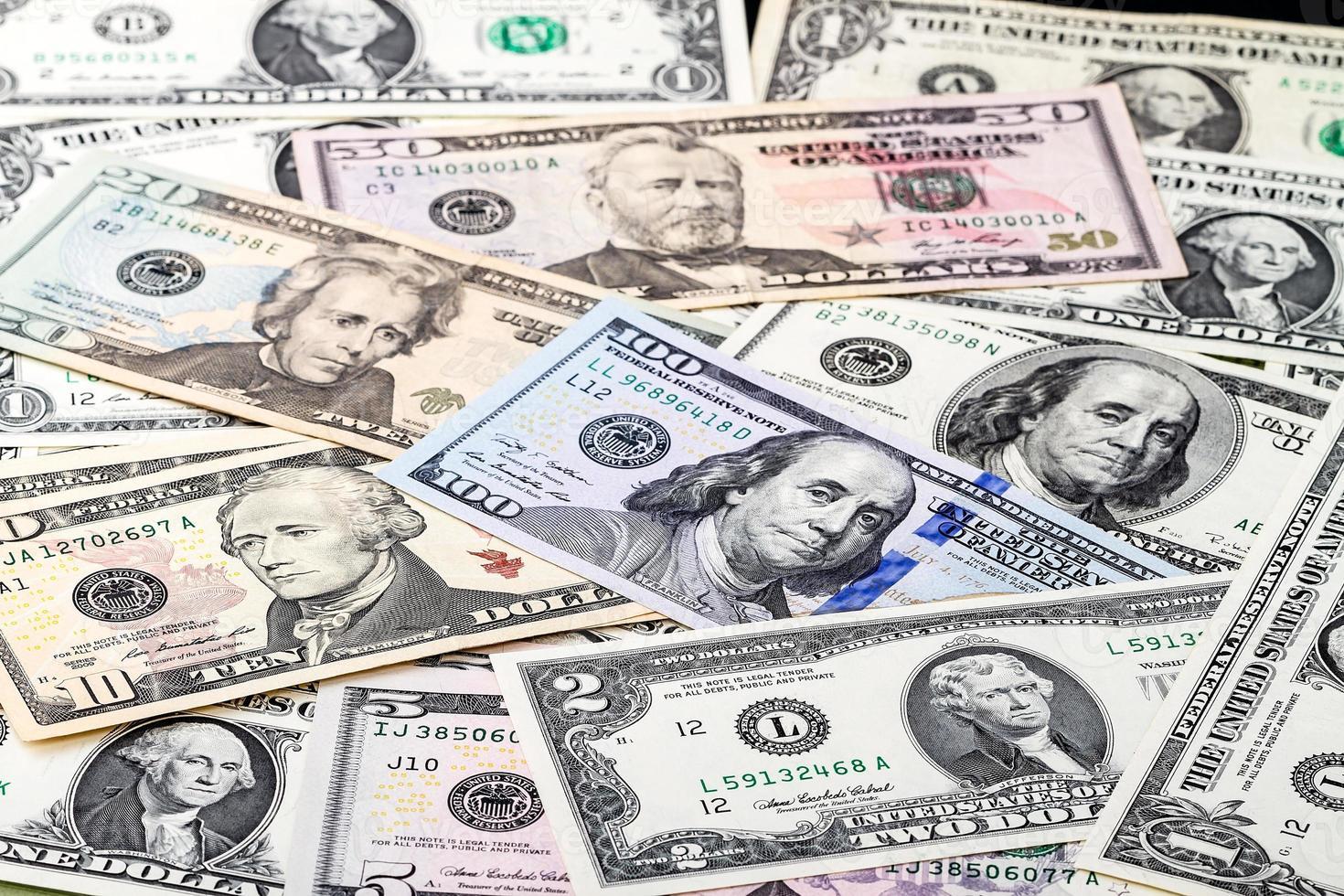présidents sur dollar photo