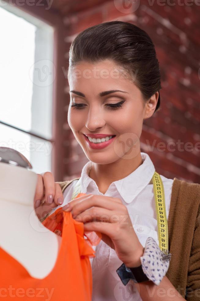 expert dans l'industrie de la mode. photo