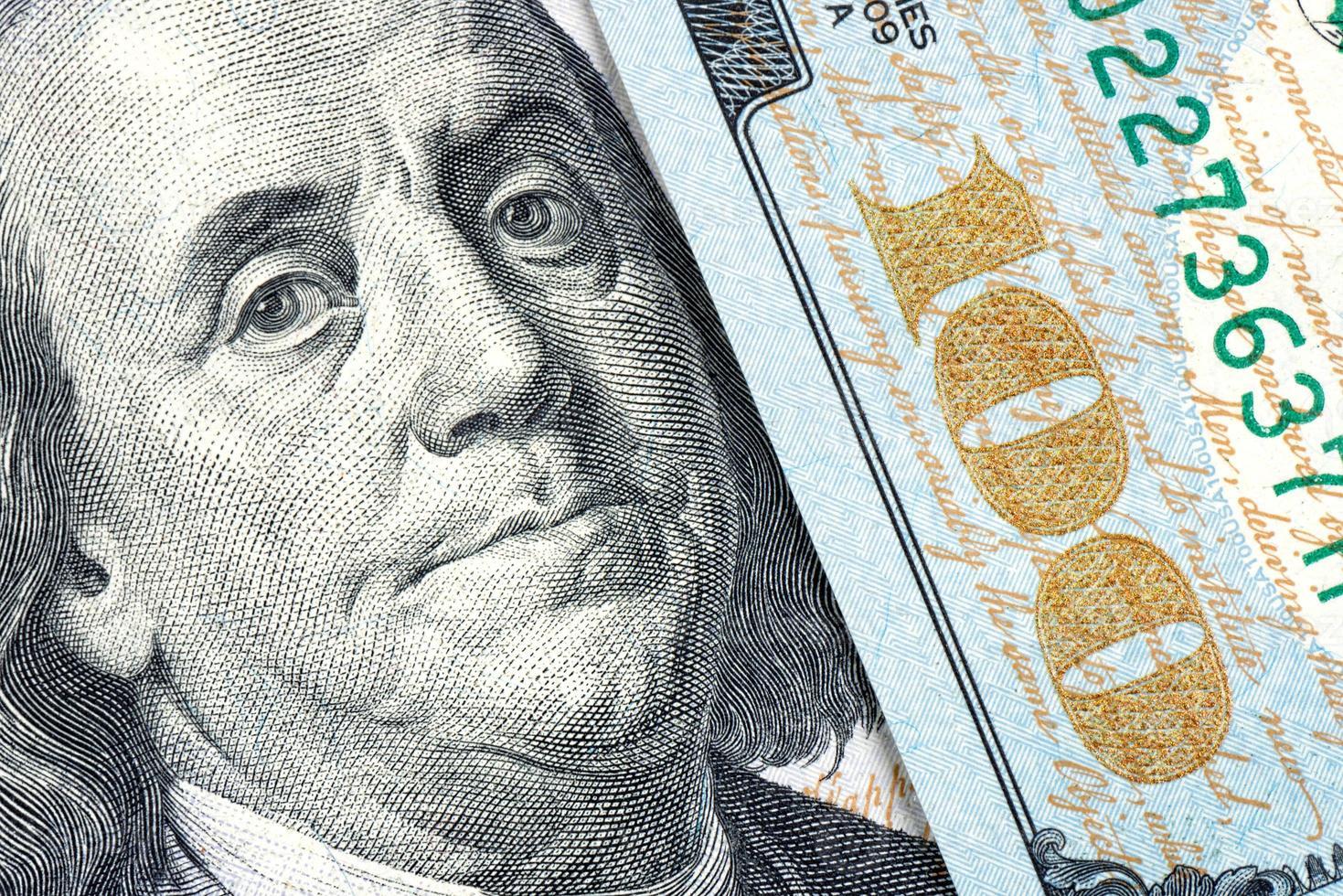 Benjamin Franklin, nouveau billet de 100 dollars photo
