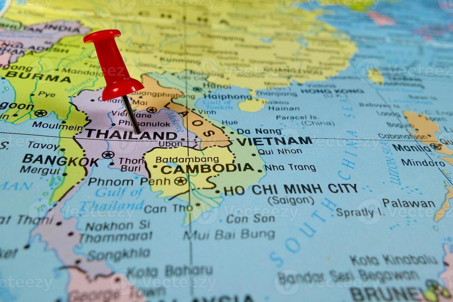 carte de la Thaïlande photo