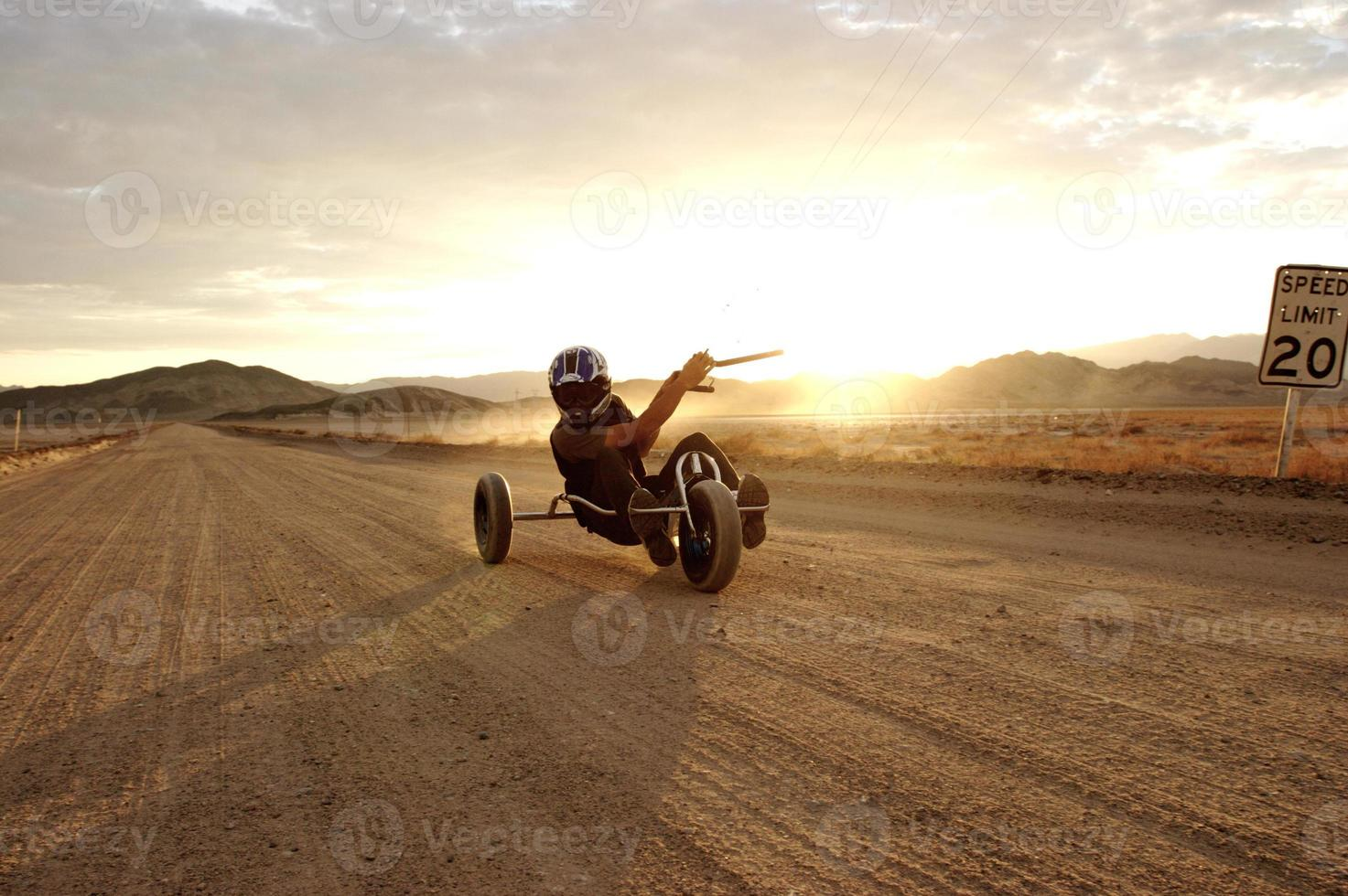 buggy cerf-volant désert photo