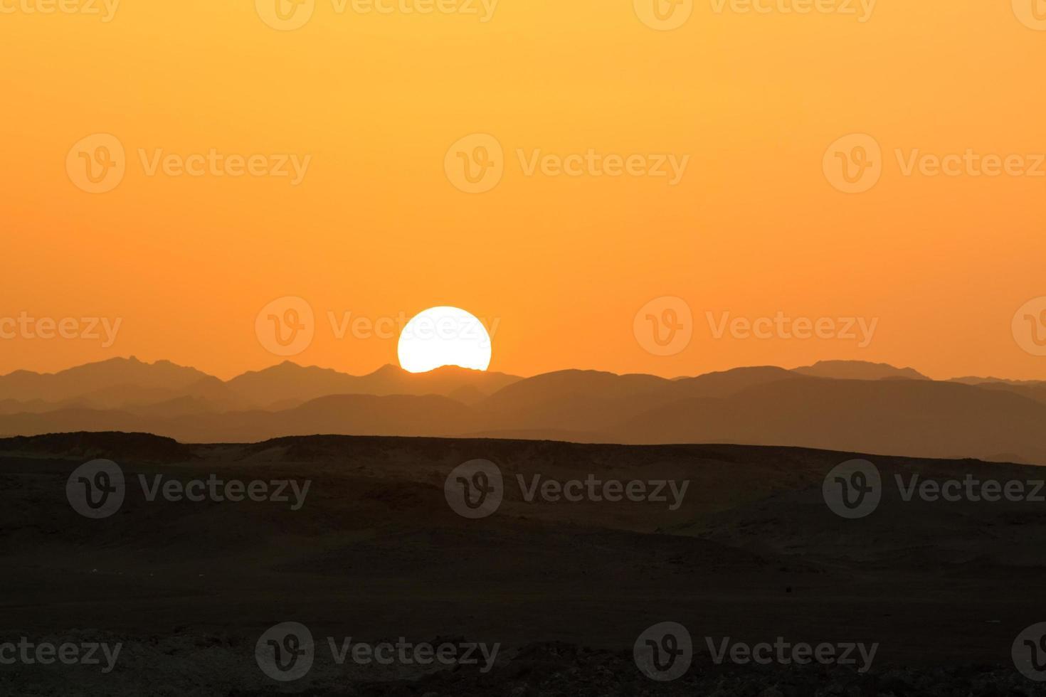 soleil du désert photo