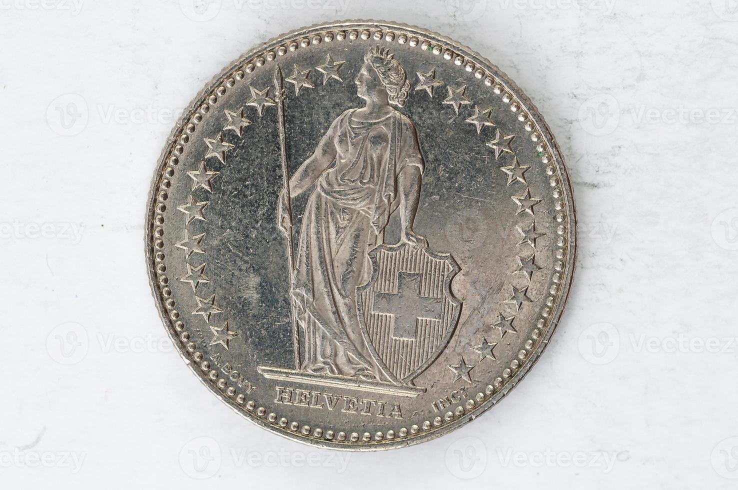 deux suisse francen pièce 2007 argent photo