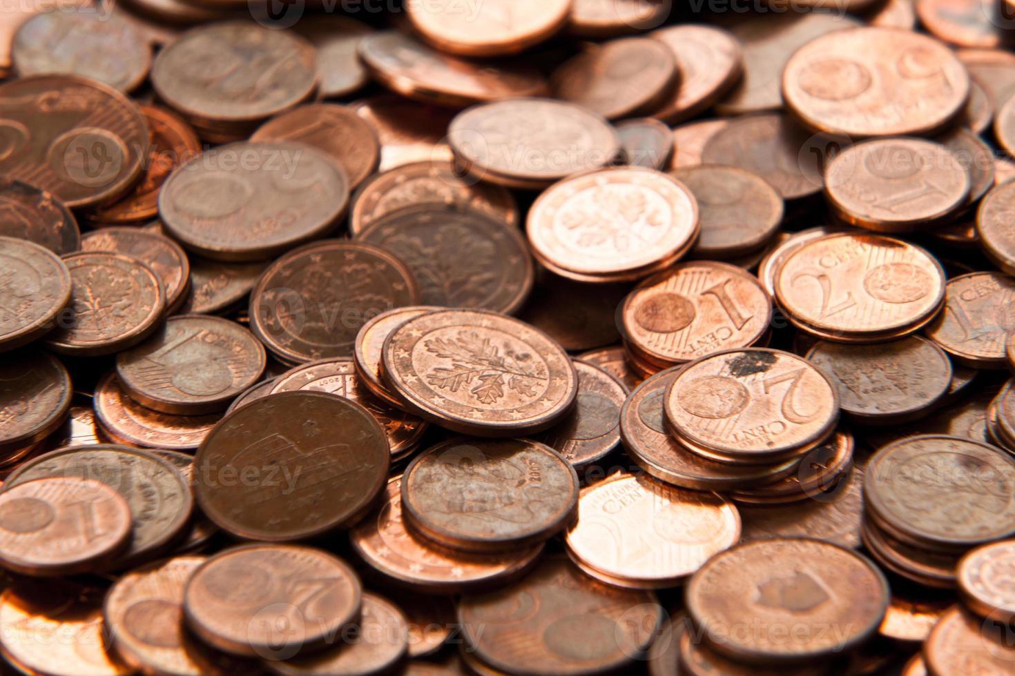 pièces en euros. photo
