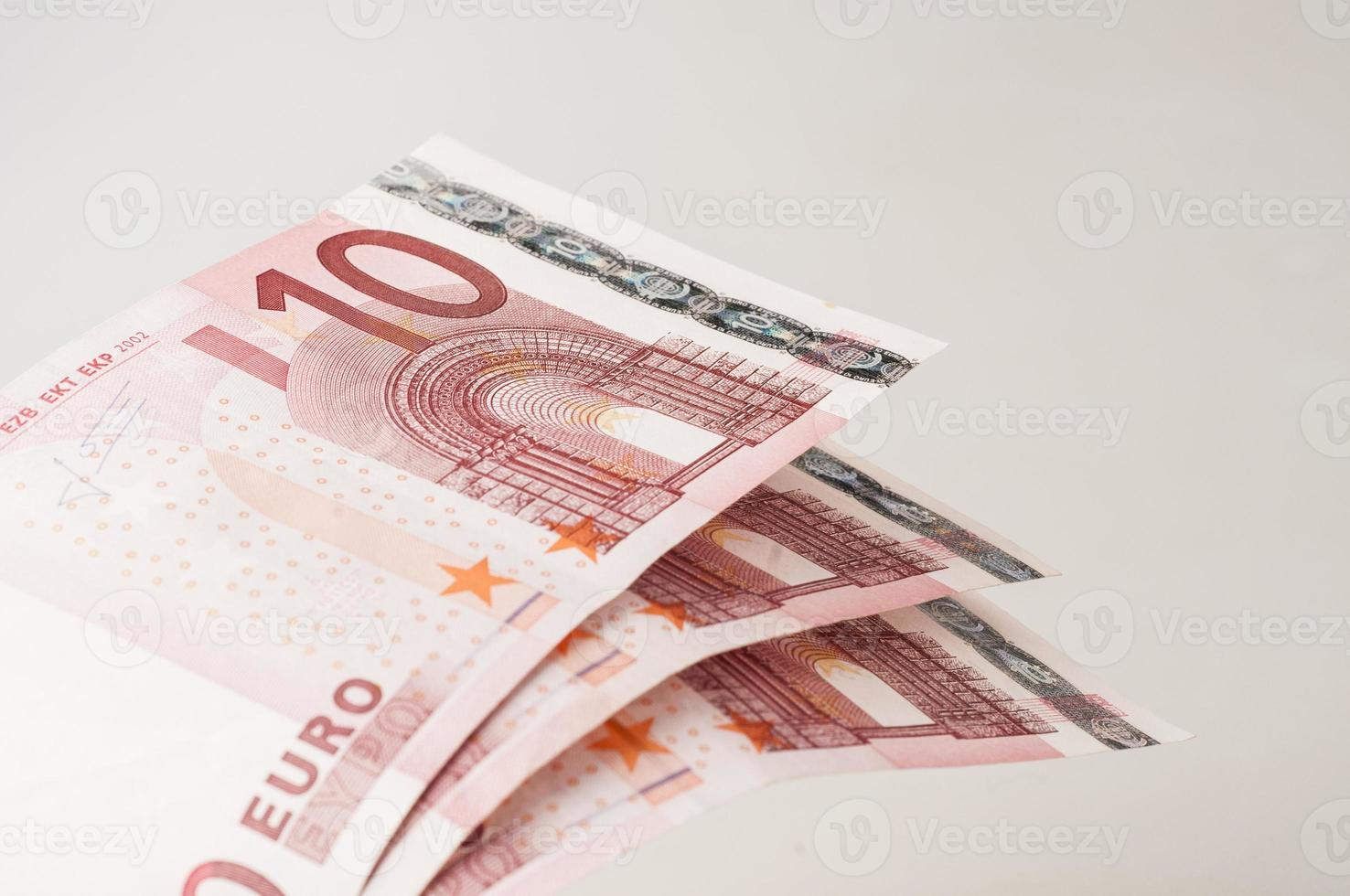 dix billets en euros photo