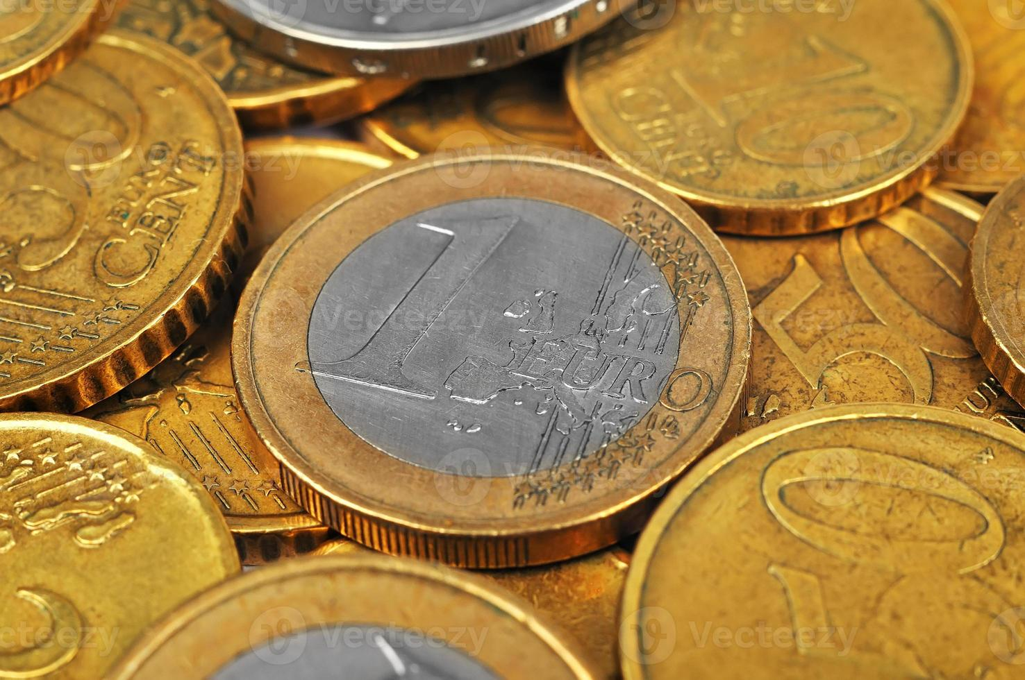 une pièce en euro photo