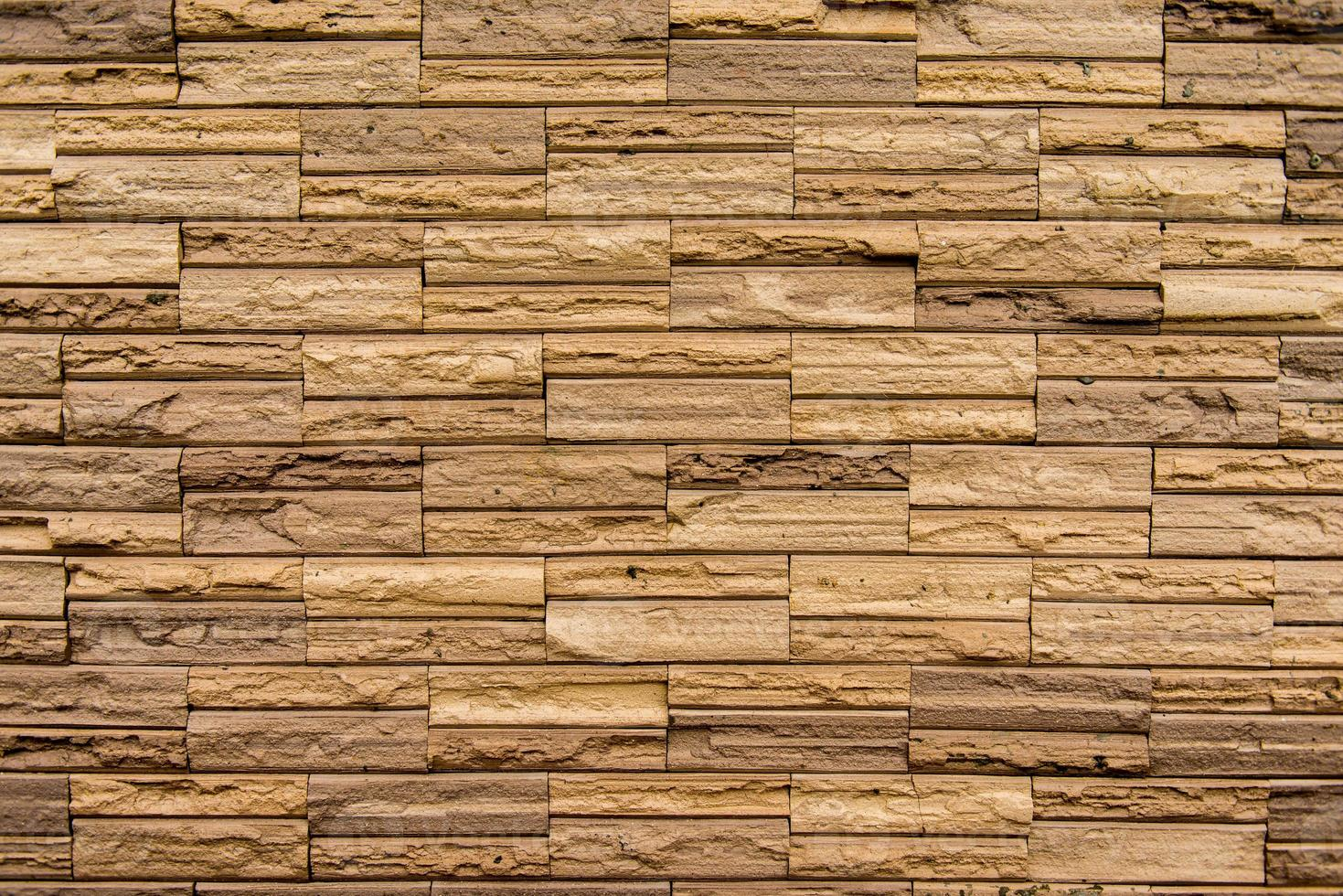 mur de pierre fait de blocs photo