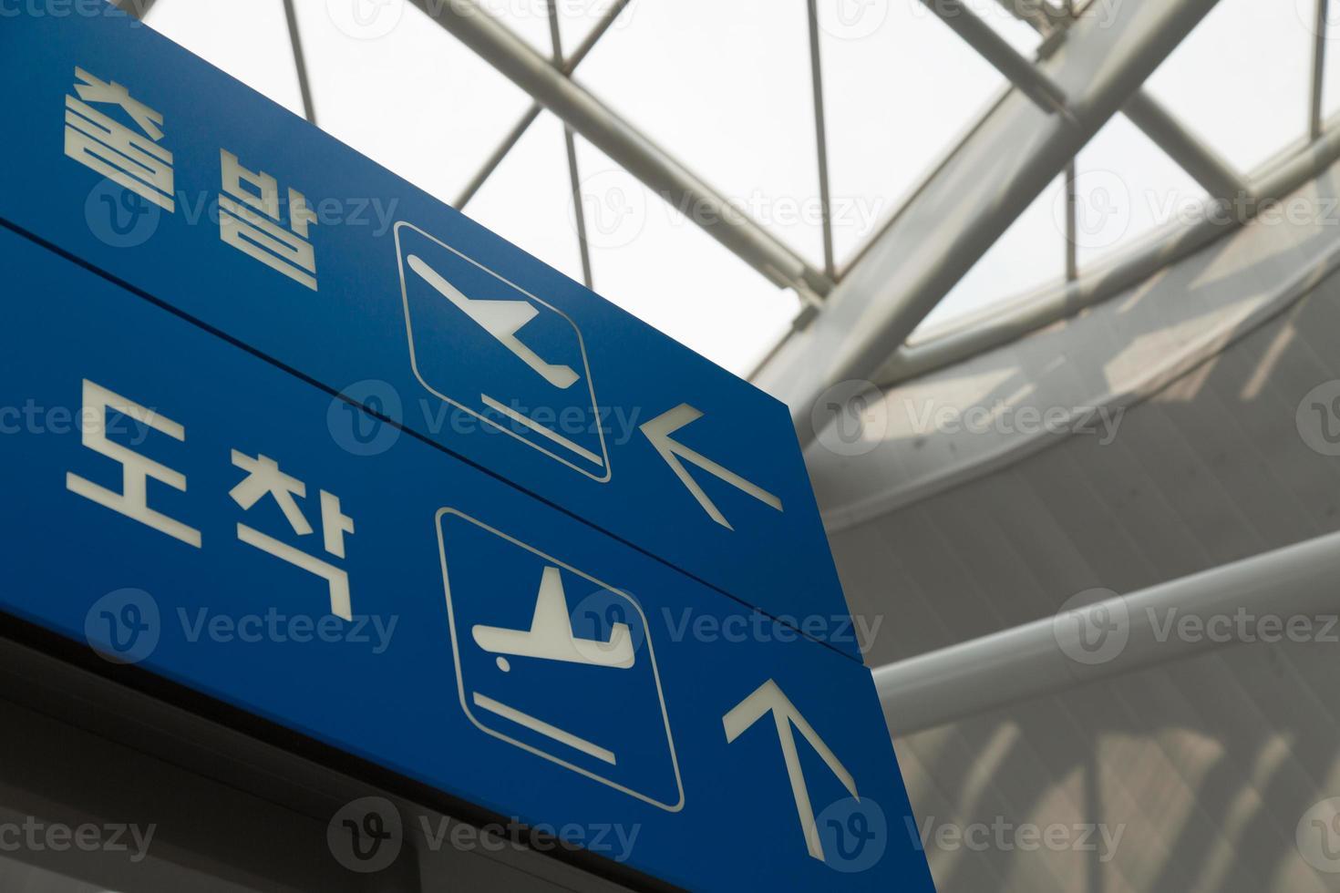 panneaux du terminal de l'aéroport photo