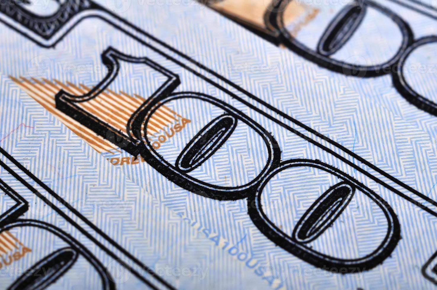cent billets d'un dollar américain photo