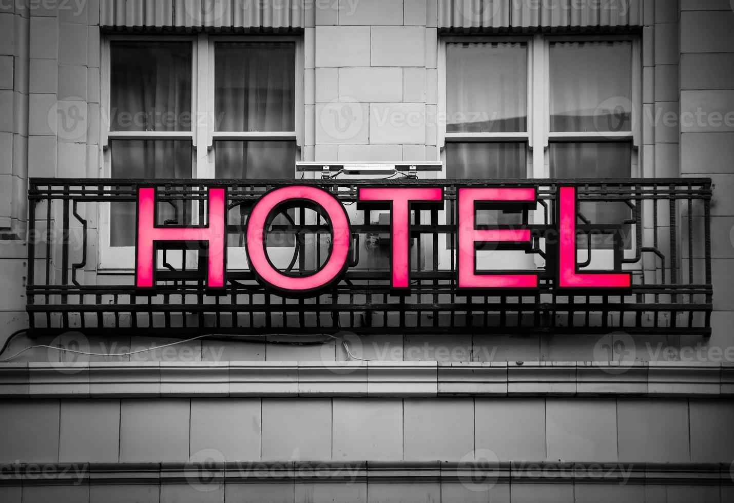 enseigne d'hôtel photo