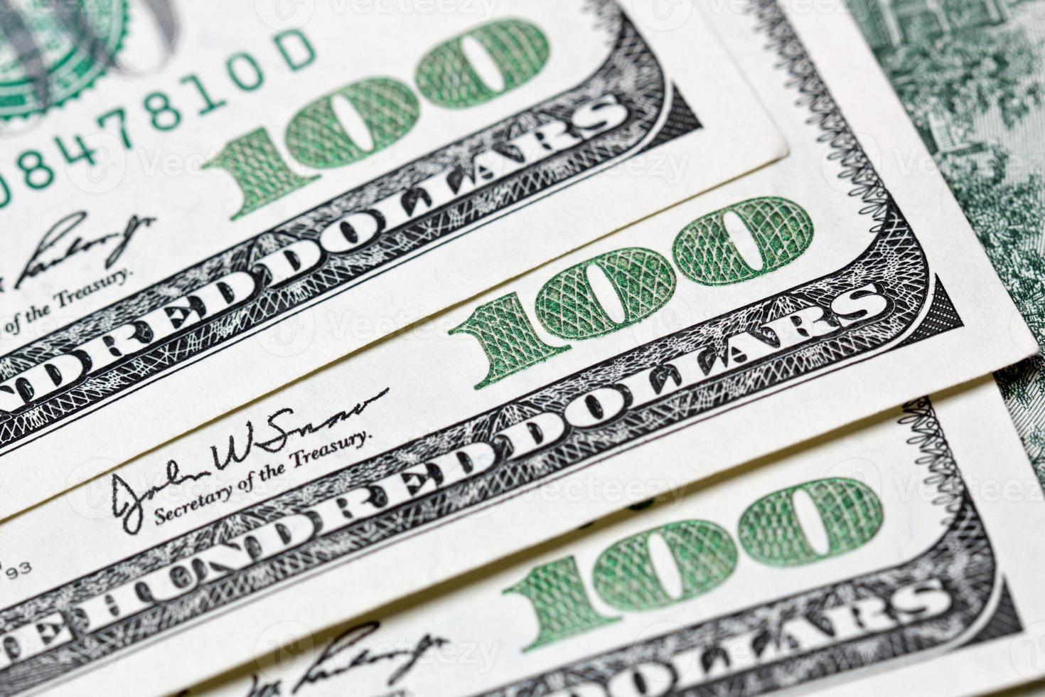 billet de cent dollars photo