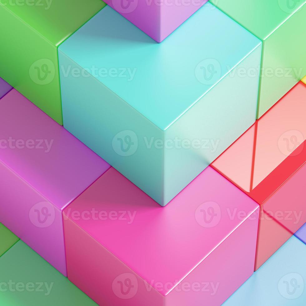 cubes colorés photo