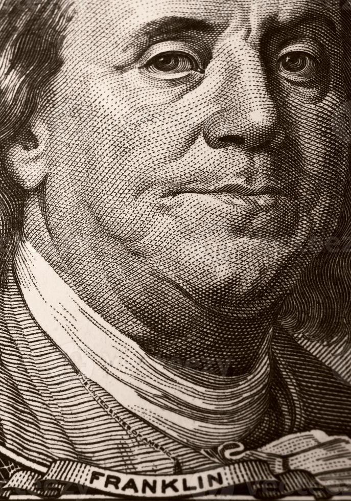 Portrait de Benjamin Franklin photo