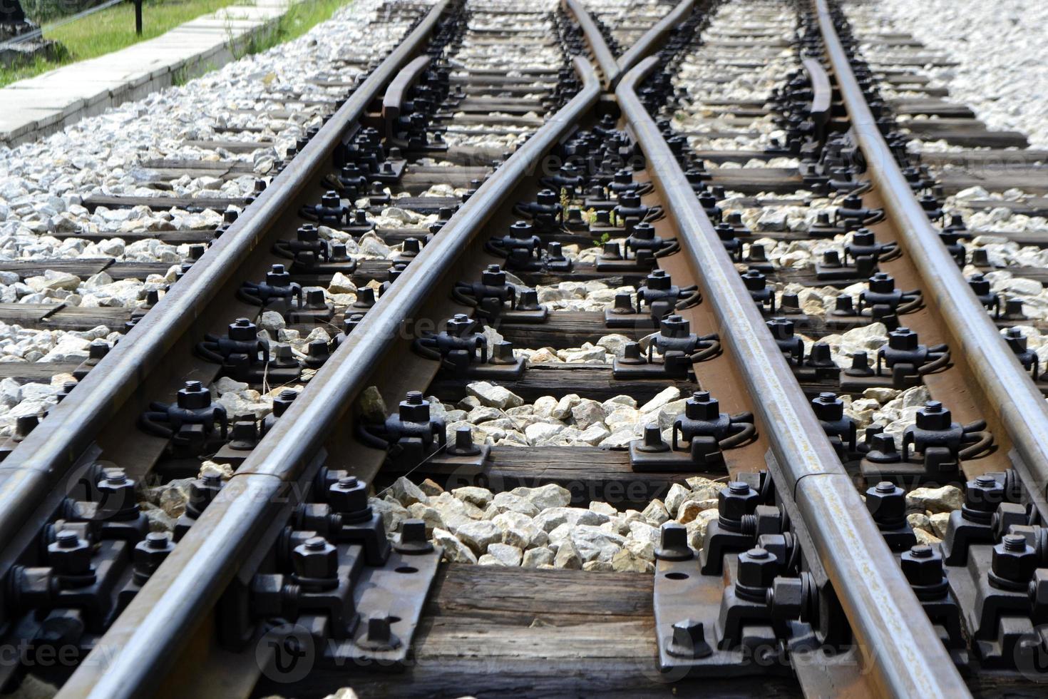 passage à niveau de la ligne de train photo