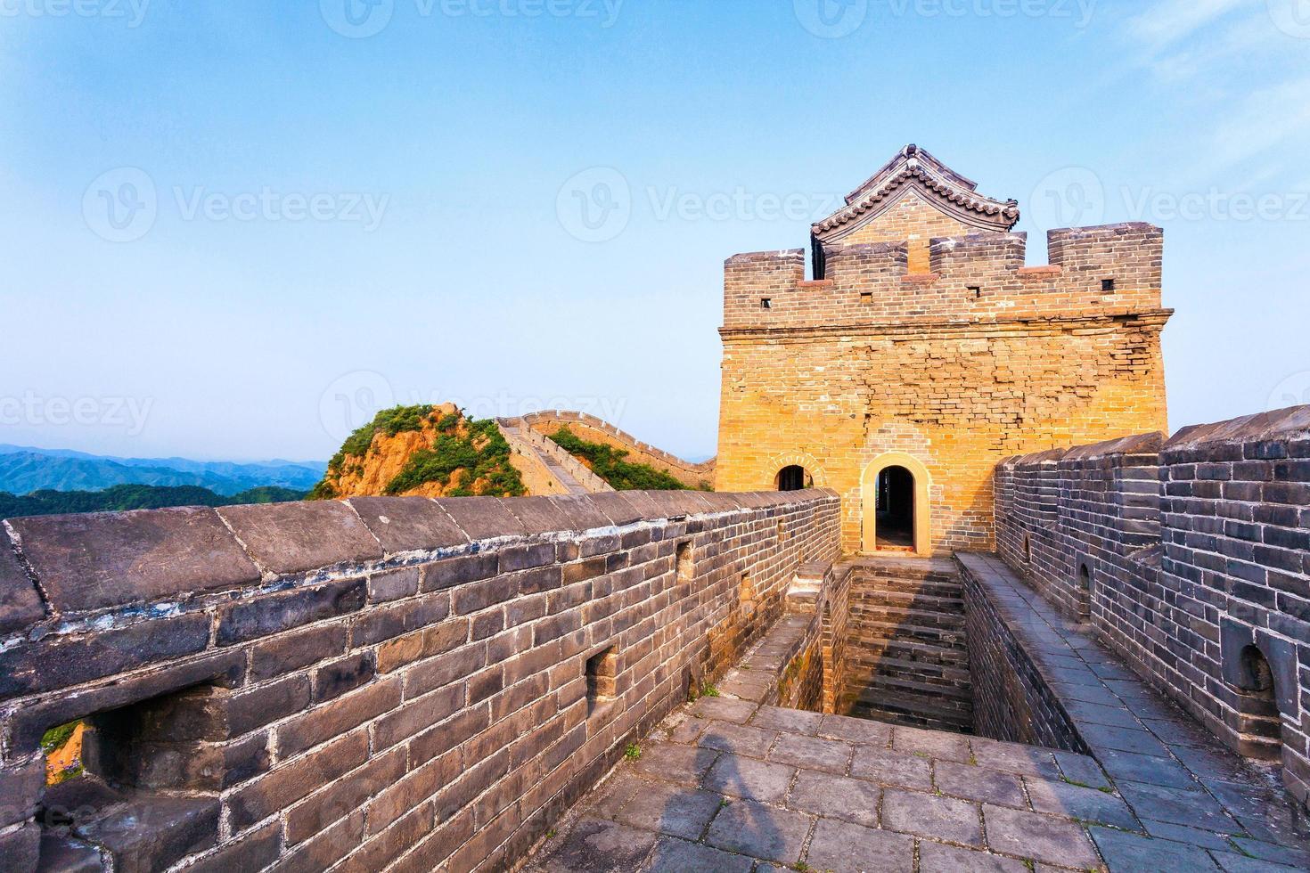 grande muraille l'emblème de la chine et de beijing photo