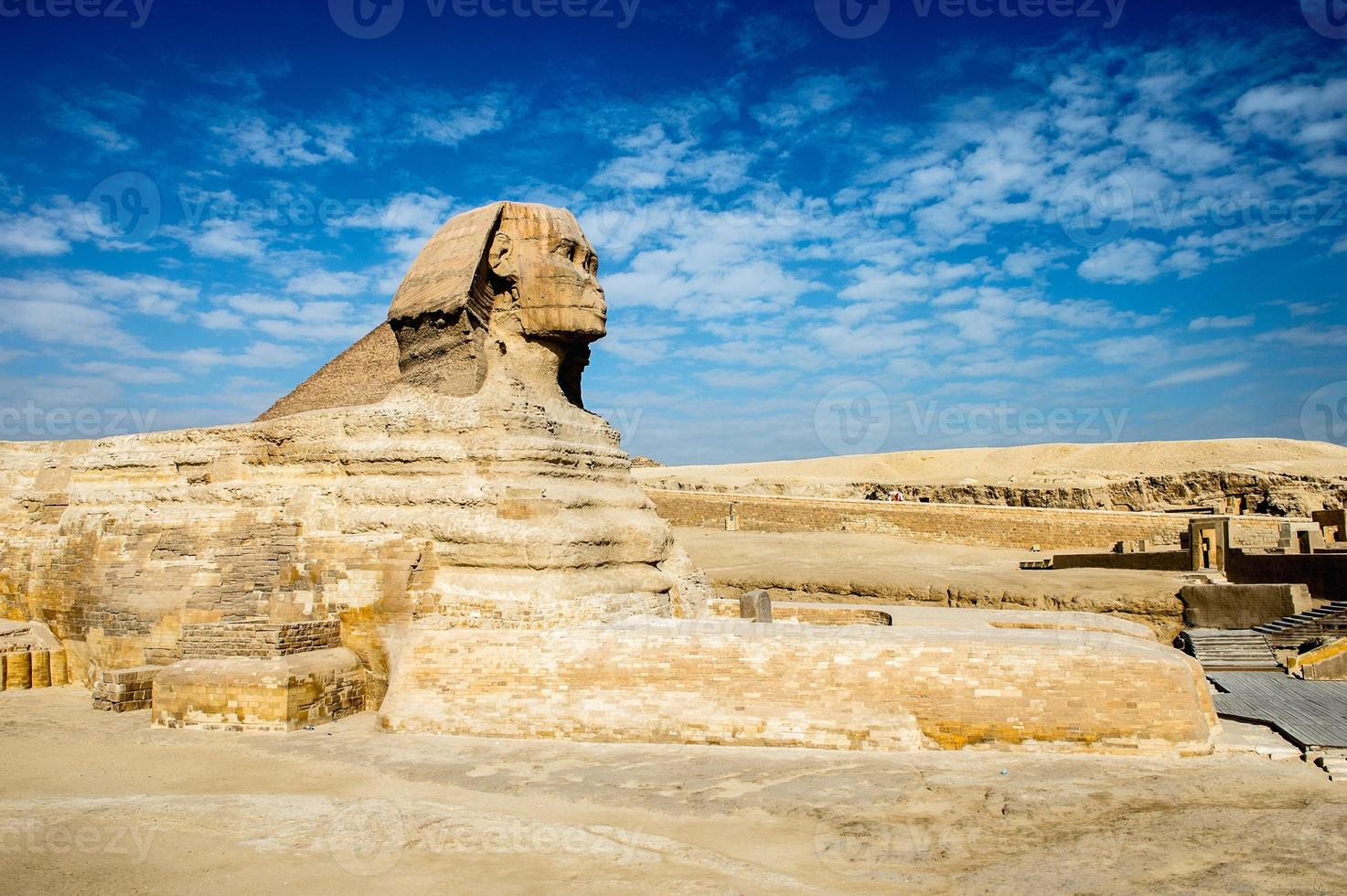 nécropole de gizeh, plateau de gizeh, egypte. patrimoine mondial de l'unesco photo