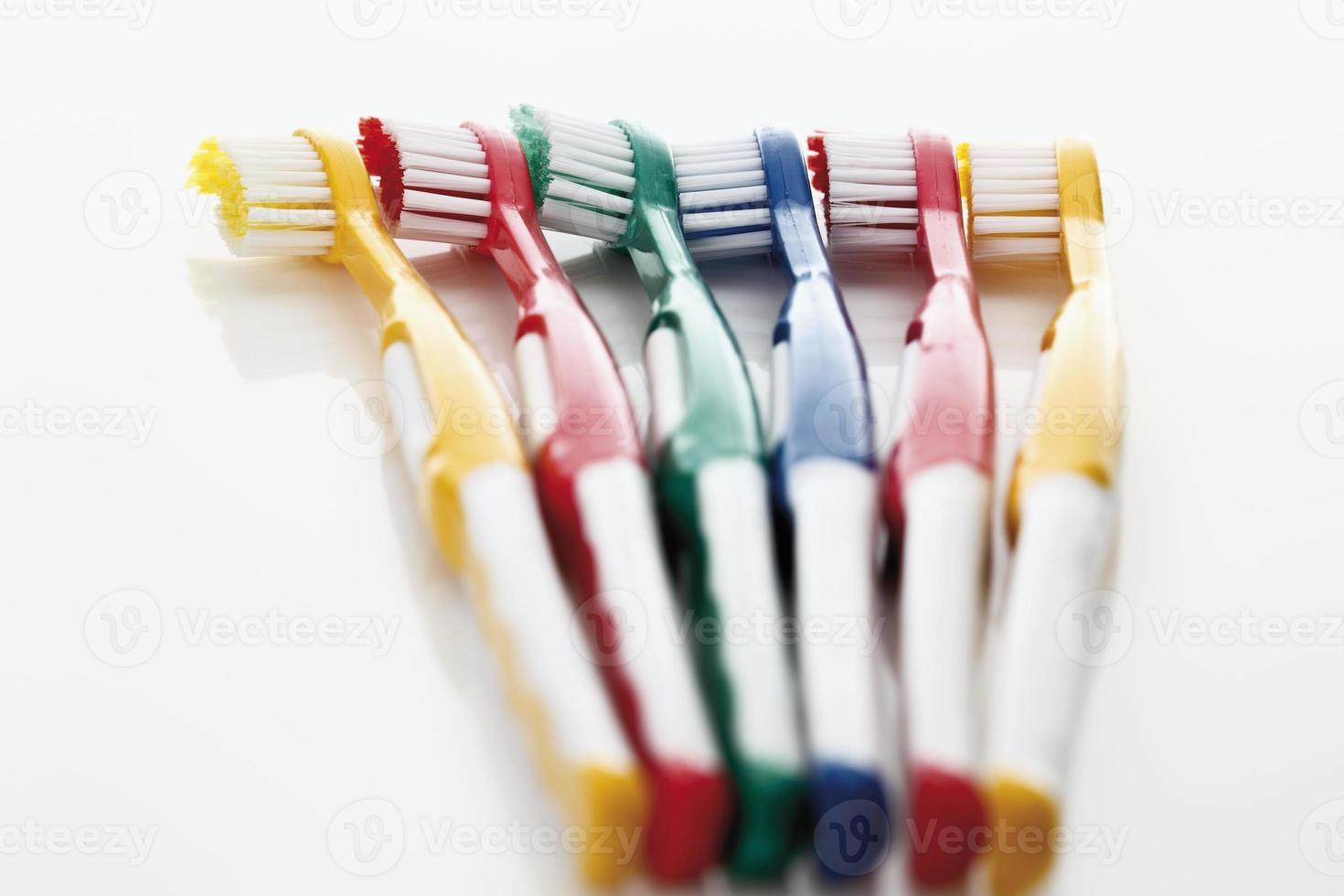 variété de brosses à dents photo