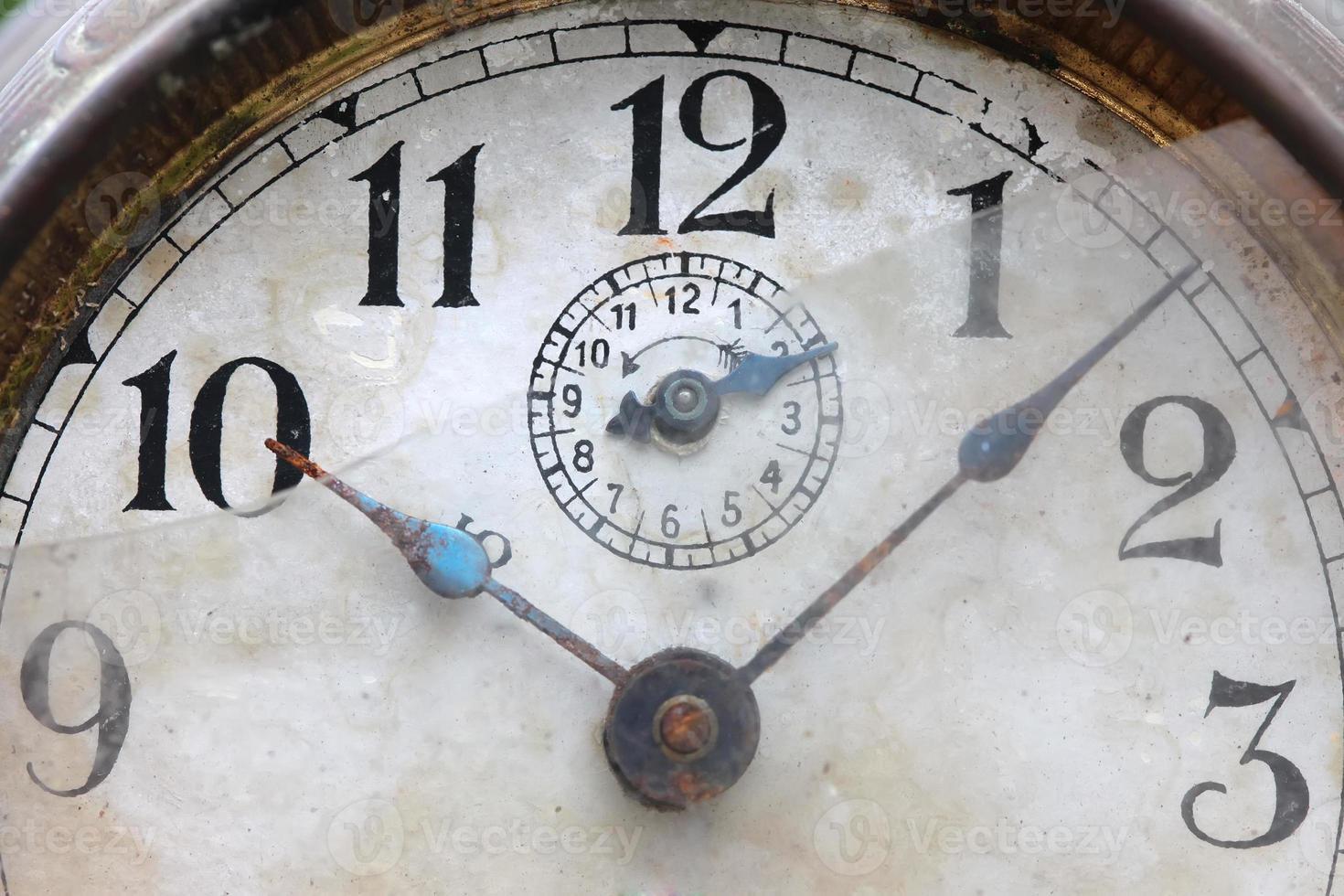 le cadran de la vieille horloge se bouchent photo