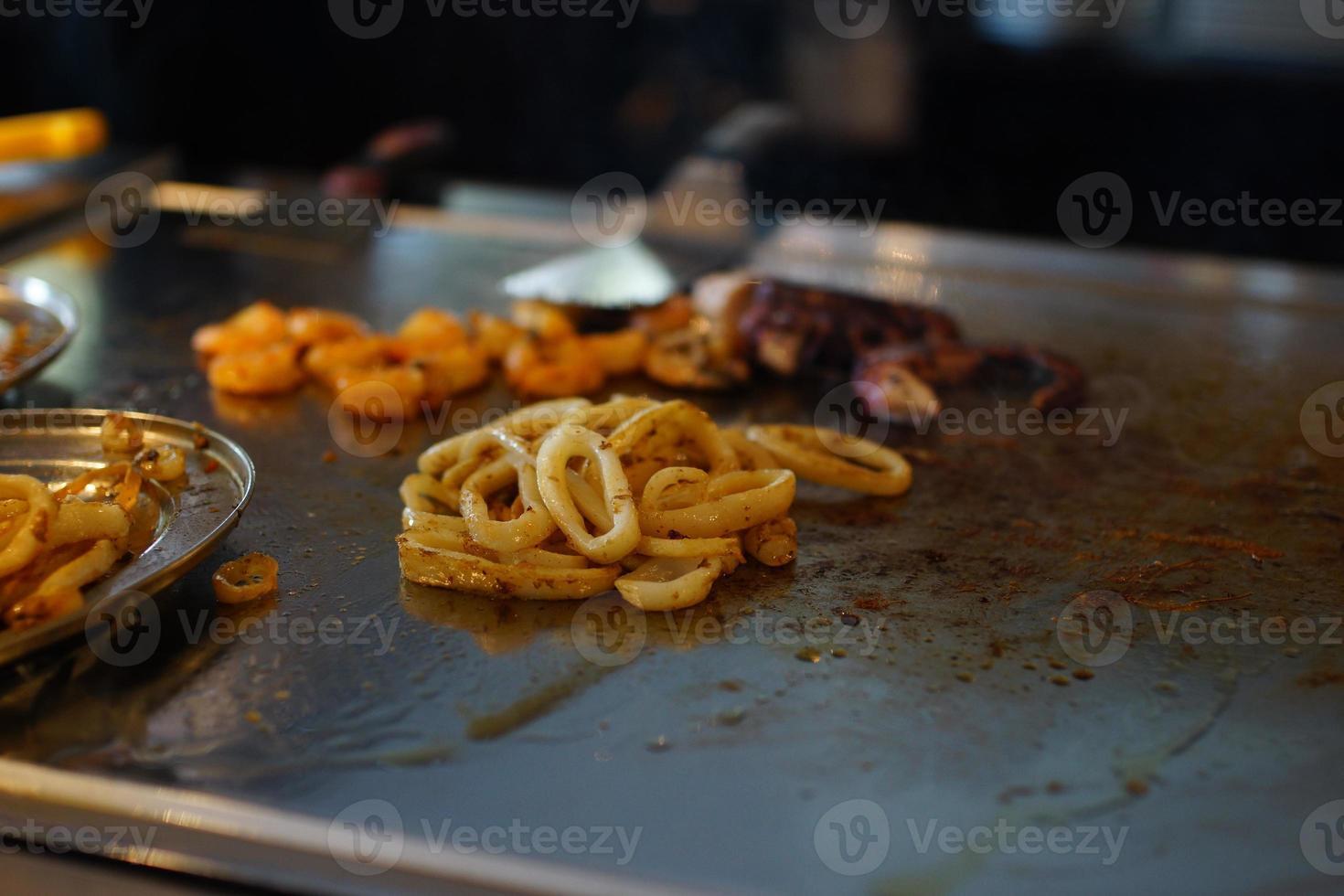 fruits de mer et sa préparation. photo
