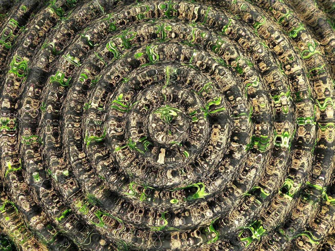 la texture de fond des cercles concentriques flosculaires photo